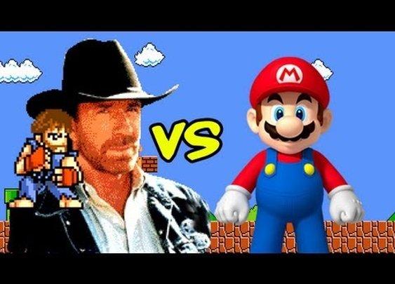 Chuck Norris vs Super Mario Bros - YouTube