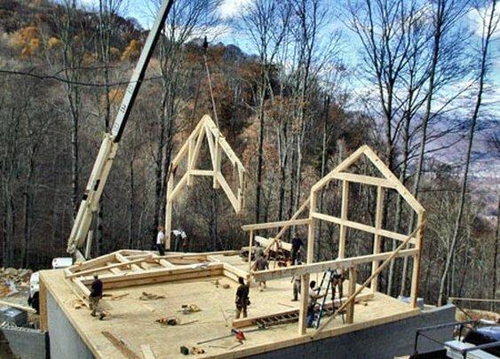 Raising Timber Frame Homes