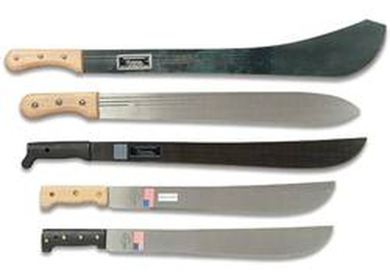 DBA-858 - Five Steel Blade Machetes