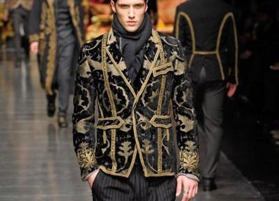 Dolce Gabbana Baroque Autumn/Winter 2012 Menswear