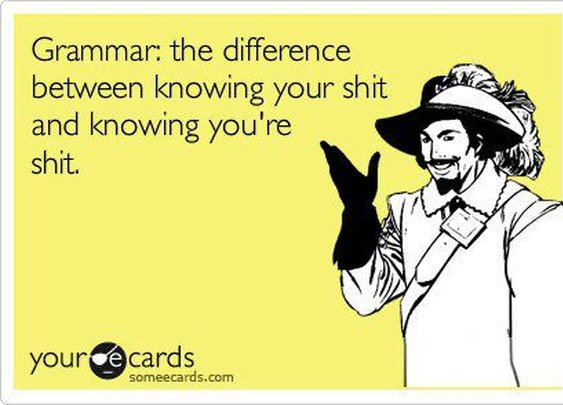 Why grammar is important