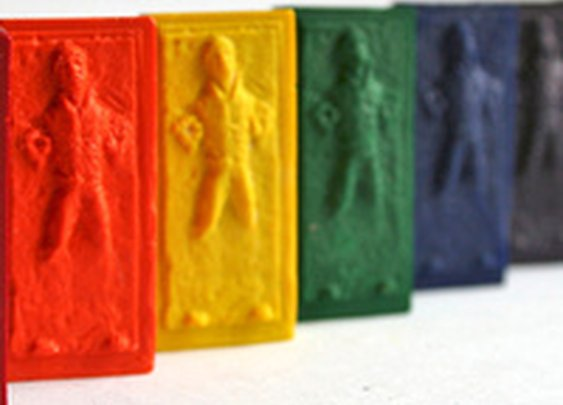 Han Solo Frozen in Carbonite Crayons