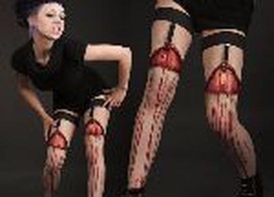 Flayed Flesh Garters - DudeIWantThat.com