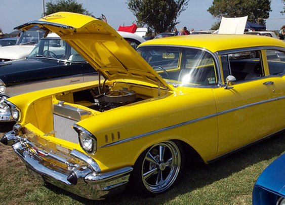 Yellow 57 Chevy Bel Air
