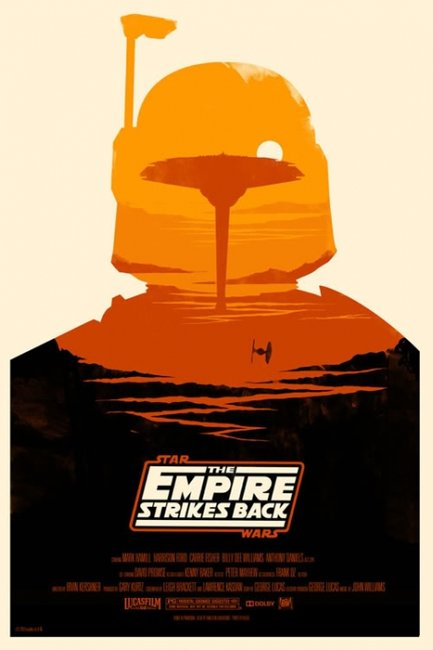 Mondo: The Archive  | Olly Moss - The Empire Strikes Back, 2010