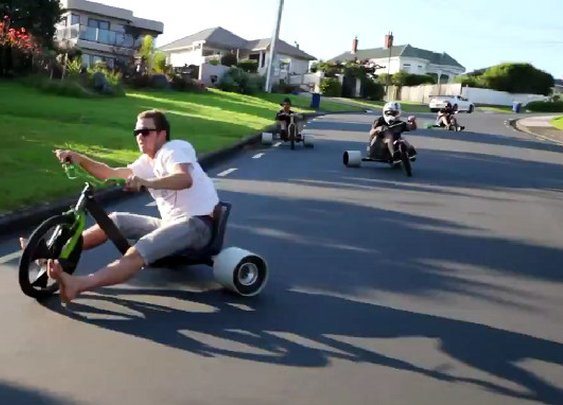 Not How I Want To Die: Drifting Big Wheels | Geekologie - Gadgets, Gizmos, and Awesome