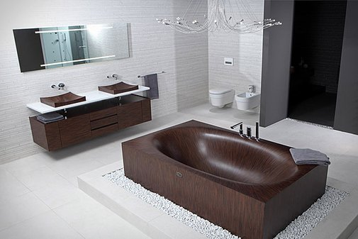 Alegna Wooden Bathtubs | Uncrate