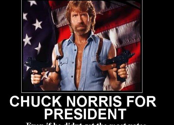CHUCK NORRIS FOR PRESIDENT!
