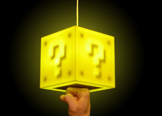 Get 8-Bit Lit With Mario-Inspired Block Lamp  Final Frame  | Apartment Therapy