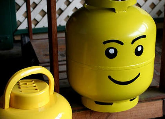 Propane Bottle Lego Head