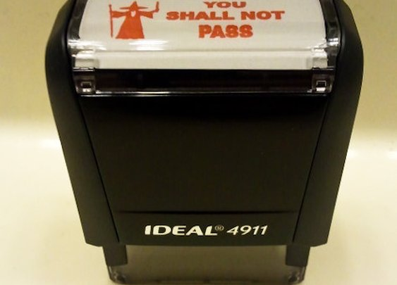 You Shall Not Pass Self-Inking Stamp