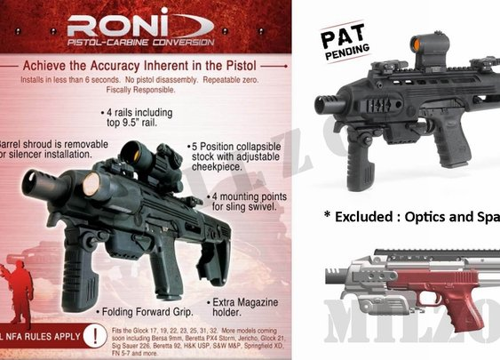 Convert your pistol in a carbine!