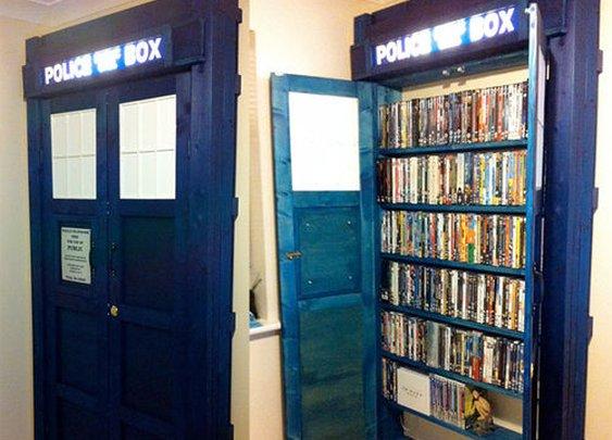 Tardis bookshelf...