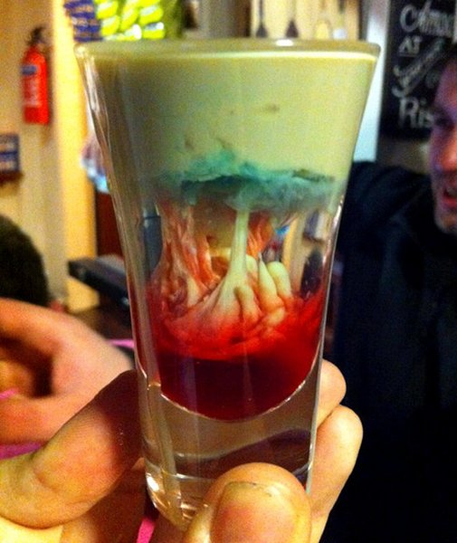 Happy Hour: Alien Brain Hemorrhage Shooters