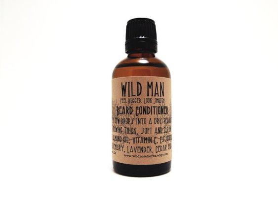 Beard Conditioner Oil Wild Man 50ml Beard by WildRoseHerbs on Etsy