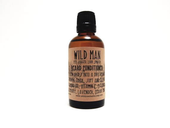 Beard Conditioner Oil Wild Man 50ml Beard by WildRoseHerbs on Etsy