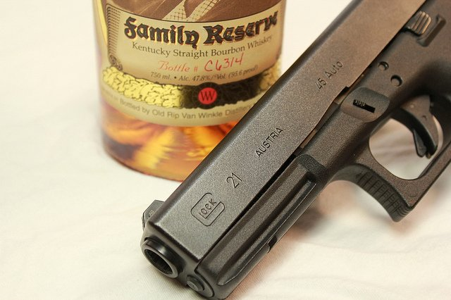 Pappy Van Winkle 23yr and Glock 21