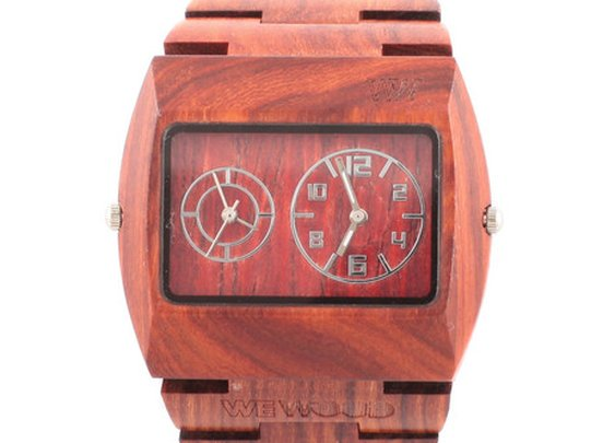Organic wooden time piece by WEWOOD