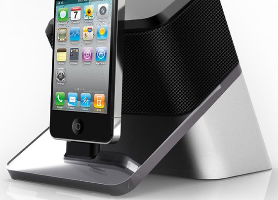Audio Video Projector with Speaker for iPod, iPhone & iPad by Chen Nanyu » Yanko Design
