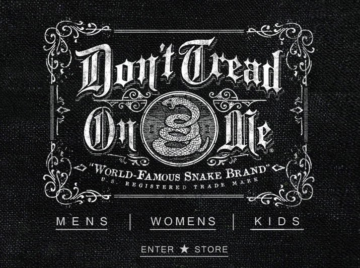 Official Don't Tread On Me® Brand Clothing, Vintage T-shirts & Apparel. Made In America. Dont Tread On Me