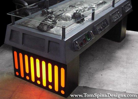 Han Solo in Carbonite Desk Furniture Concept