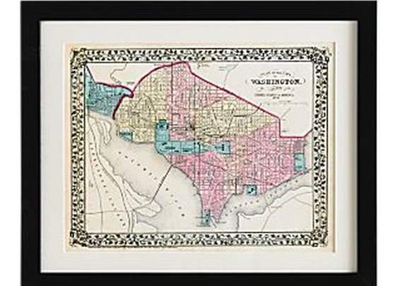 Historical Framed Maps - National Geographic Store