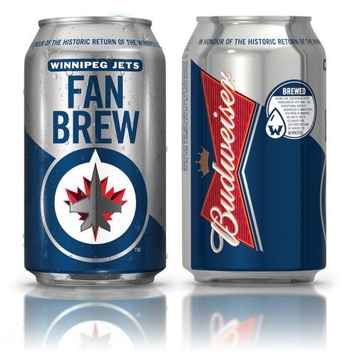 Budweiser Winnipeg Jets Fan Brew