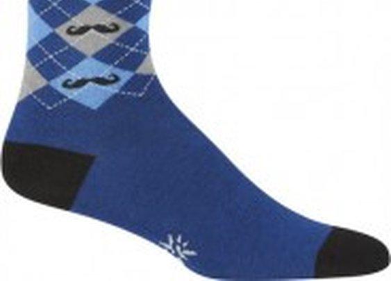 Argyle Mustache Socks