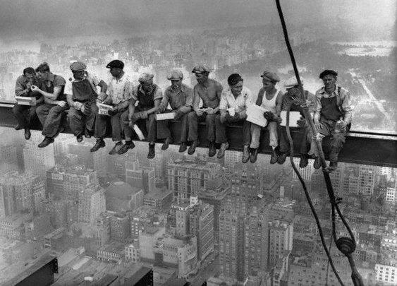 Real Men having a Real lunch Break.