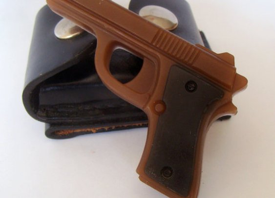 Gun Pistol Soap  Burberry Scented Set of Two by ABreathOfFrenchAir