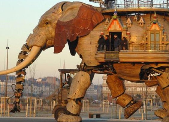 Robotic Elephant - Carries up to 49 passengers.