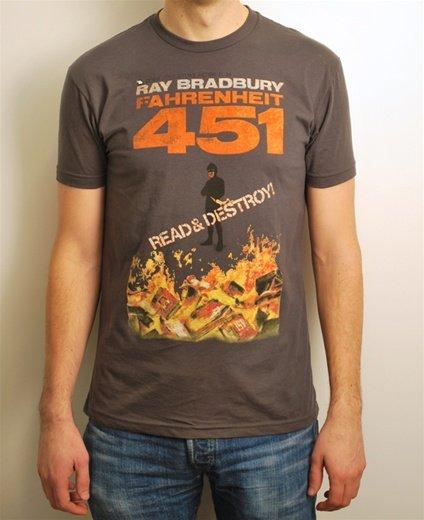 Fahrenheit 451 book cover t-shirt