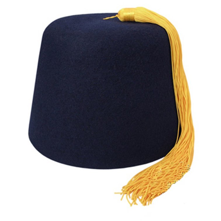 Navy Fez With Gold Tassel