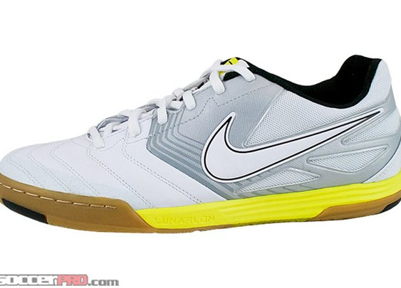 Nike5 LunarGato White with Yellow >> Free Shipping >> Nike5 Indoor Shoes