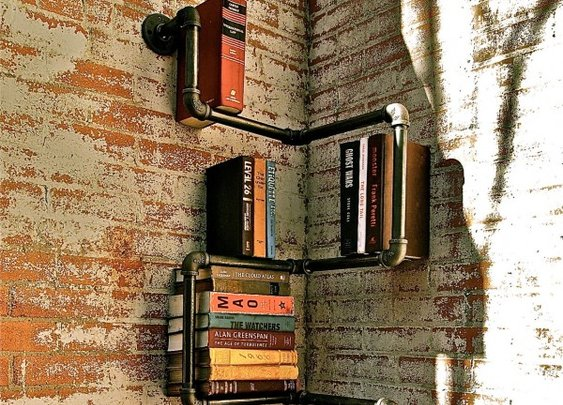 Pipe Bookshelves
