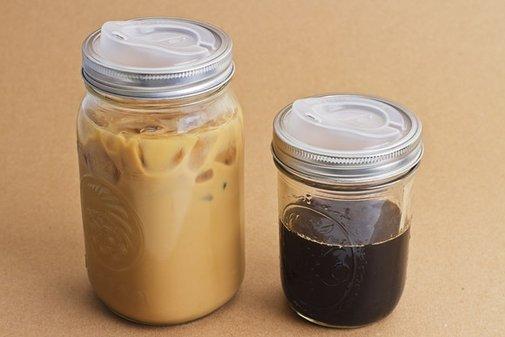 Turn a Canning jar into a Travel mug