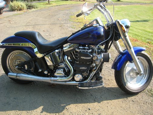Supercharged Harley Fatboy