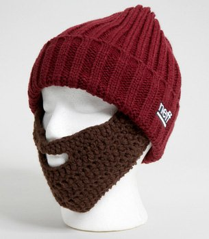 Knit Hat With Removable Beard