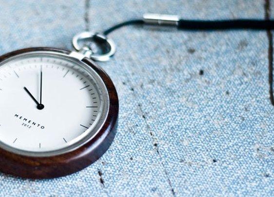 Memento - Wood Encased Pocket Watch