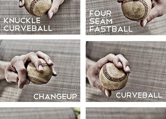 Set of 3 Black & White Photos Baseball pitches by honeyandfitz