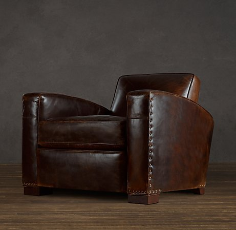 Library Leather Chair | Leather  | Restoration Hardware