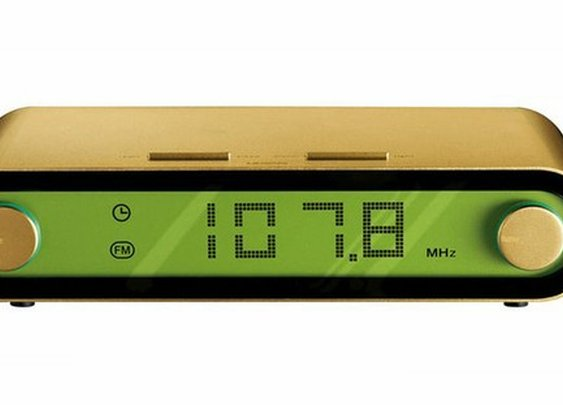 Gadgets and Gear / Jet Gold Clock Radio by Lexon.
