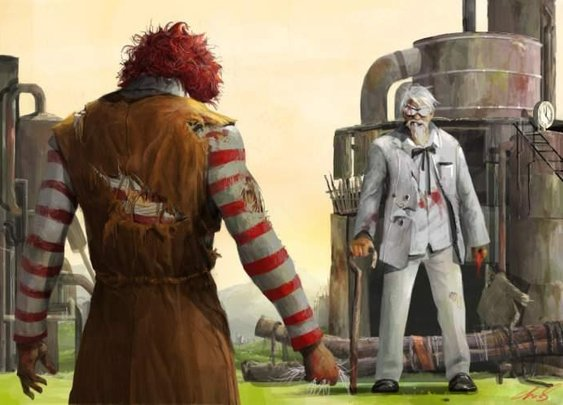 The Clown vs. The Colonel