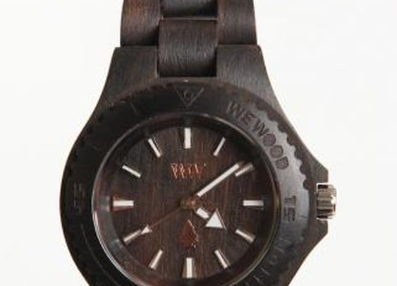JackThreads - DATE Wooden Special Edition Watch Black