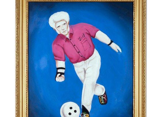 Albino Bowler Oil Painting