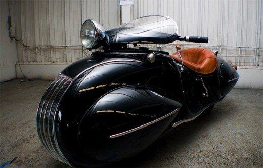 Art Deco K.J Henderson Motorbike, 1936
