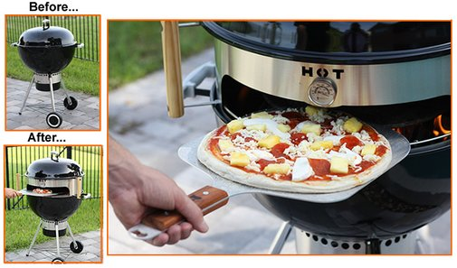 KettlePizza - Turn Your Kettle Grill into an Outdoor Pizza Oven.
