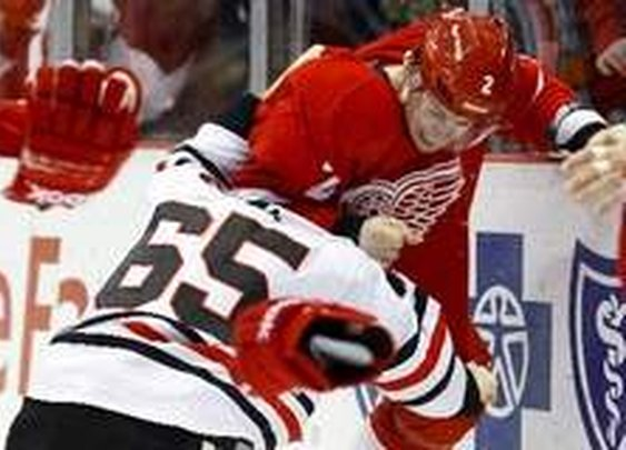 Chicago 2, Detroit 1: Red Wings Jakub Kindl, Jimmy Howard go out with injuries | Detroit Free Press | freep.com