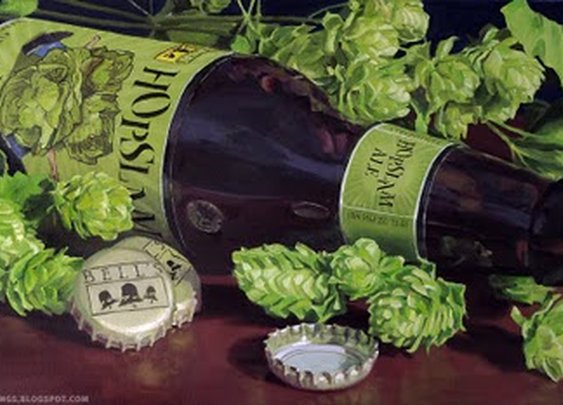 Beer Paintings - Paying tribute to fine beer with fine art.: Bell's Hopslam