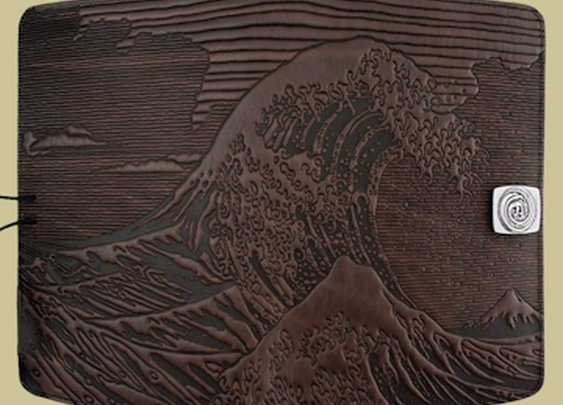Hokusai Wave Kindle Fire Cover by Oberon Design